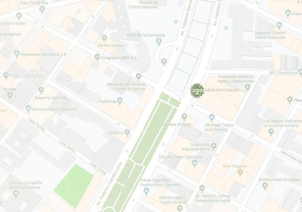 Localización de Adela Vivo Eventos